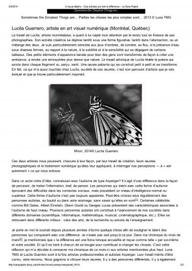 Croque détails – Des art...érence – Le Sans Papier